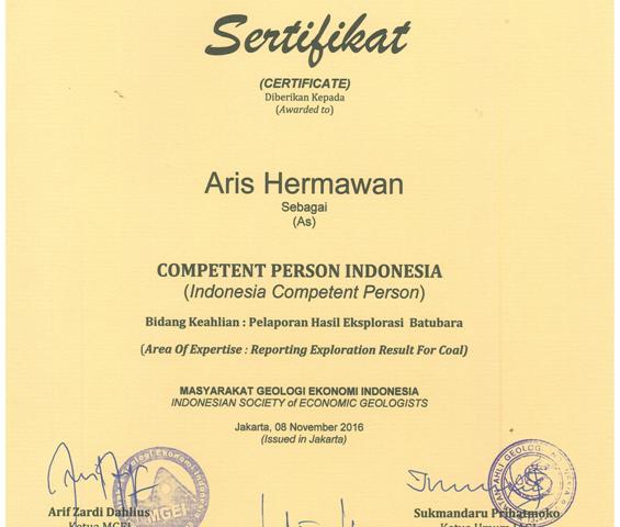 CPI (Competent Person Indonesia)