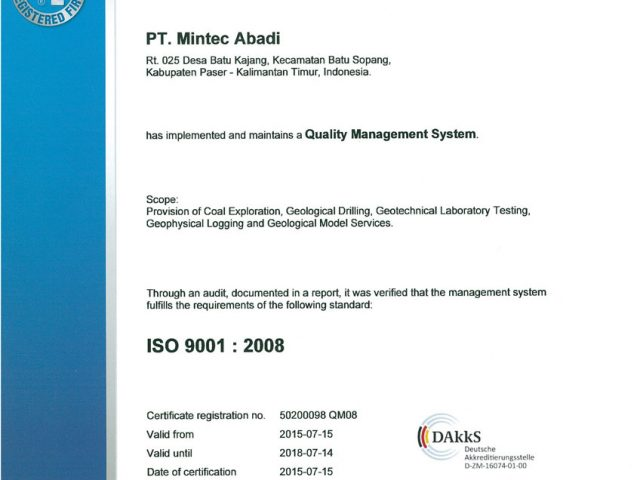 ISO 9001 : 2008. Quality Management system certification